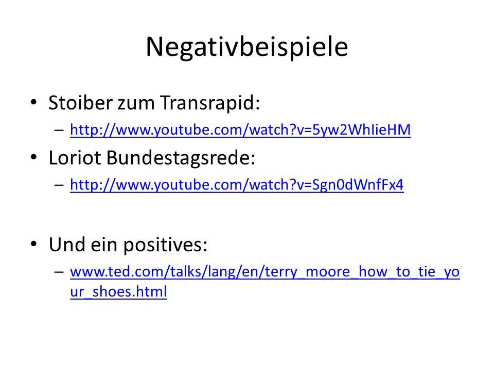 Negativbeispiele Stoiber zum Transrapid: Loriot Bundestagsrede: