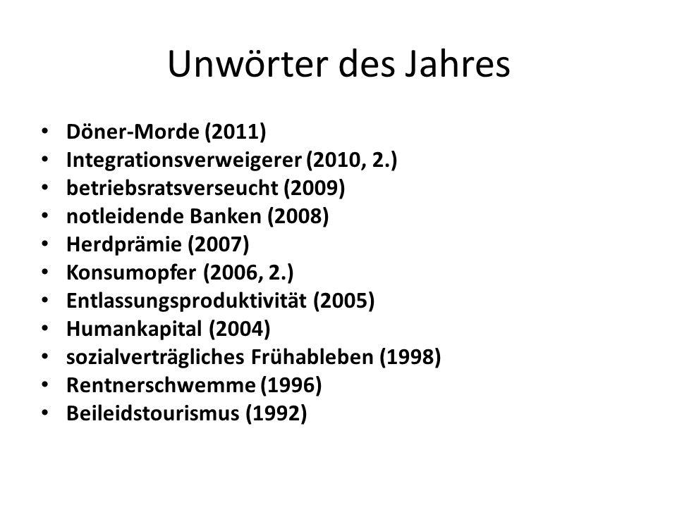 Unwörter des Jahres Döner-Morde (2011)