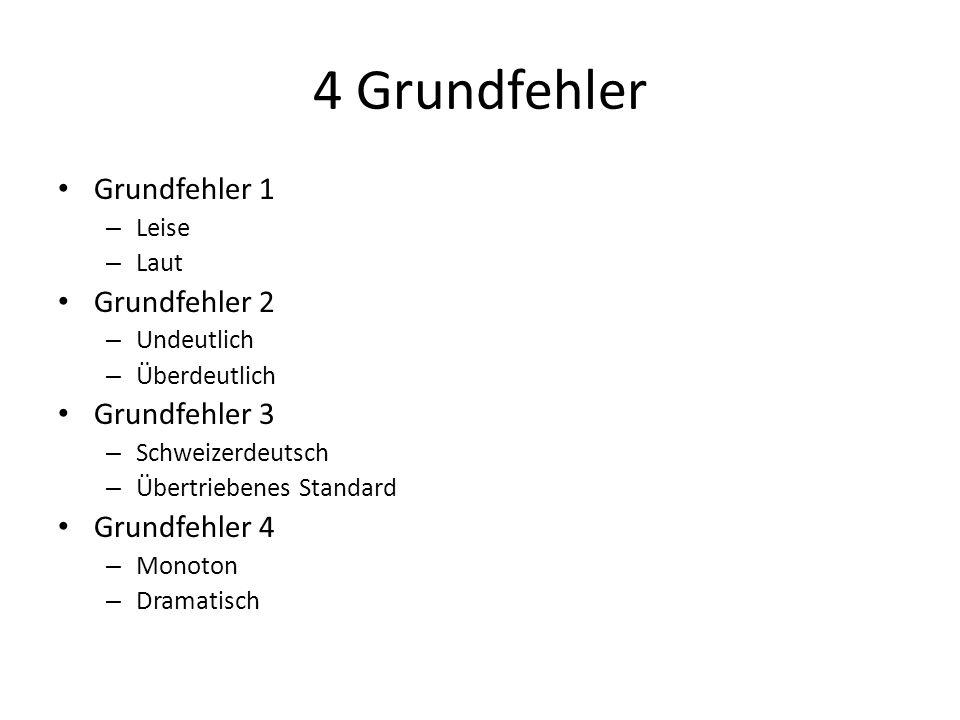4 Grundfehler Grundfehler 1 Grundfehler 2 Grundfehler 3 Grundfehler 4