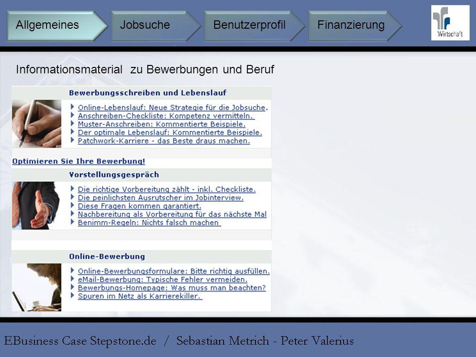 Informationsmaterial zu Bewerbungen und Beruf