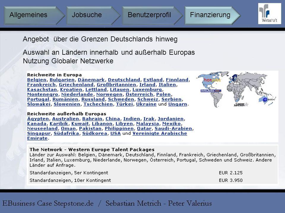Angebot über die Grenzen Deutschlands hinweg