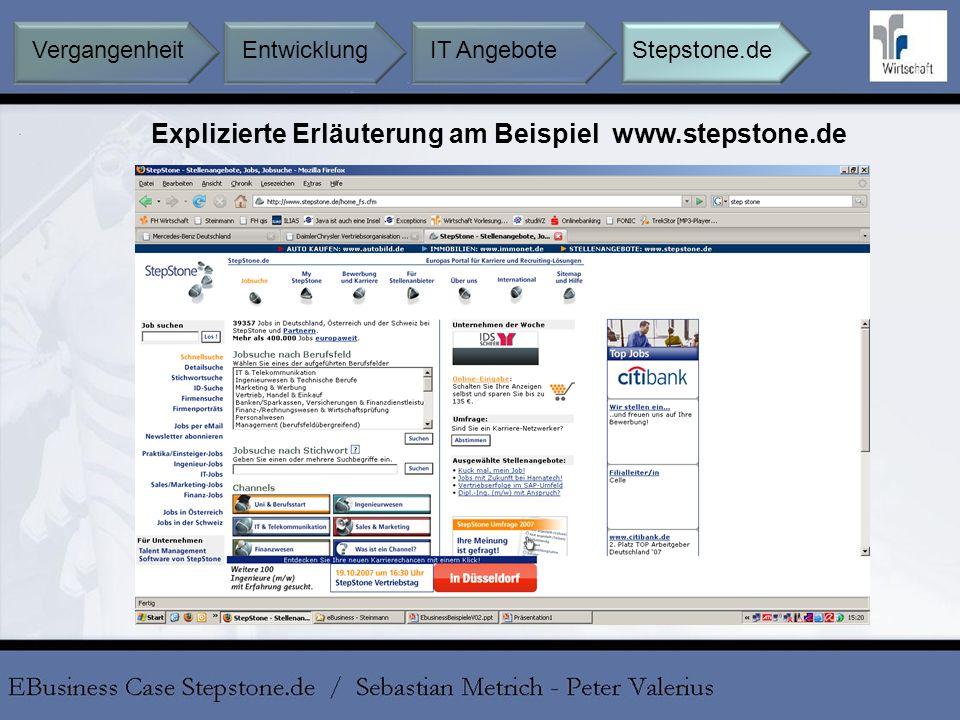 Explizierte Erläuterung am Beispiel www.stepstone.de