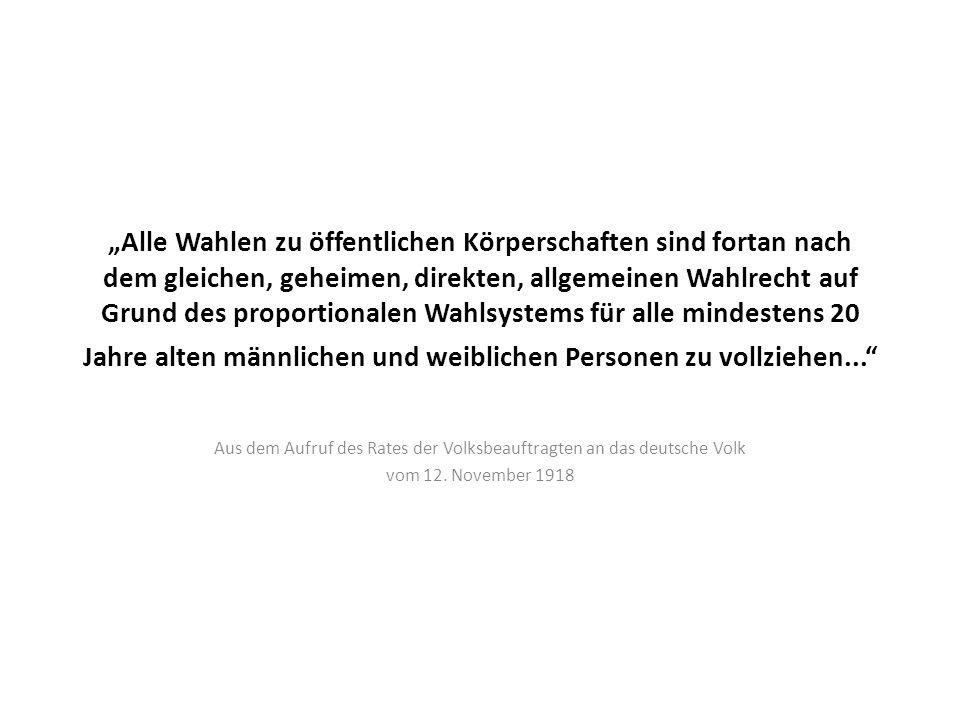Aus dem Aufruf des Rates der Volksbeauftragten an das deutsche Volk