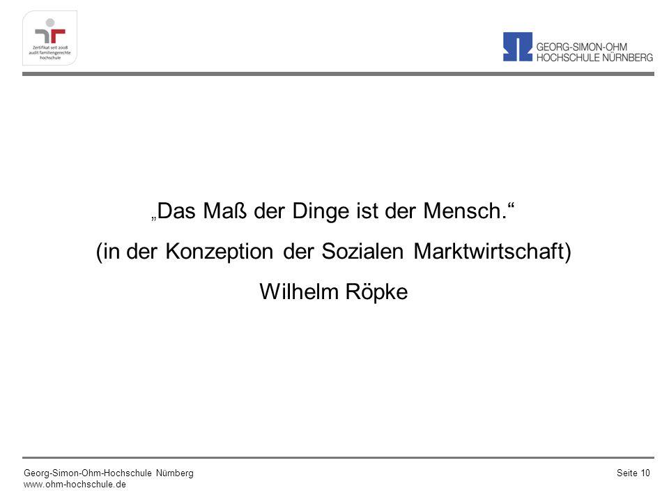 (in der Konzeption der Sozialen Marktwirtschaft) Wilhelm Röpke