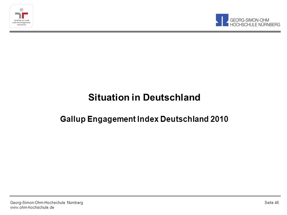 Situation in Deutschland Gallup Engagement Index Deutschland 2010