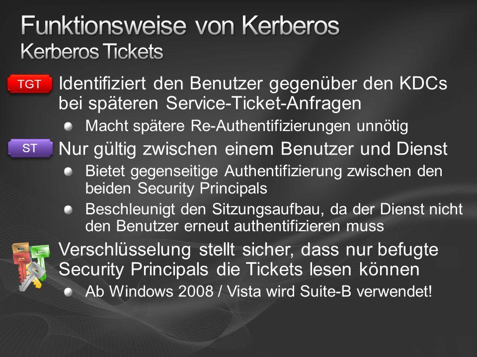 Funktionsweise von Kerberos Kerberos Tickets