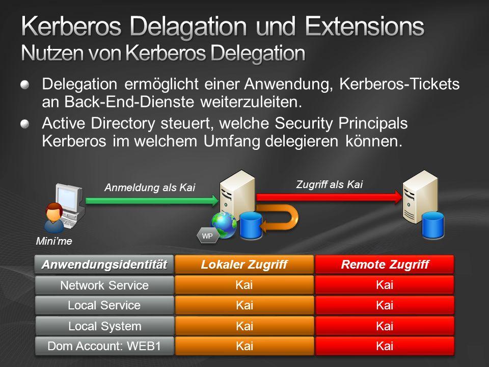 Kerberos Delagation und Extensions Nutzen von Kerberos Delegation