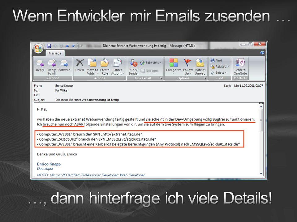 Wenn Entwickler mir Emails zusenden …