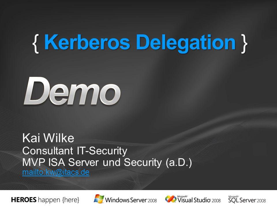 { Kerberos Delegation }