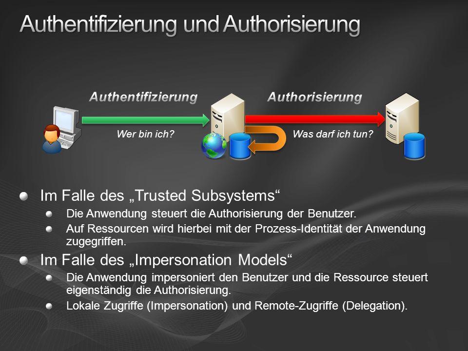 Authentifizierung und Authorisierung