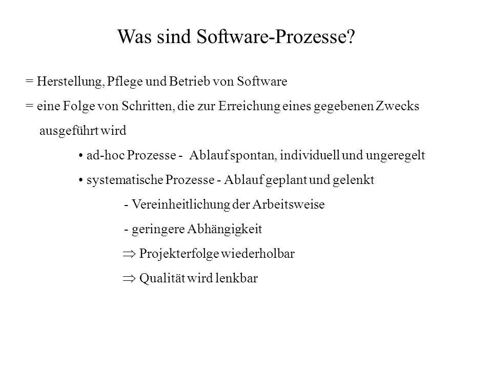 Was sind Software-Prozesse