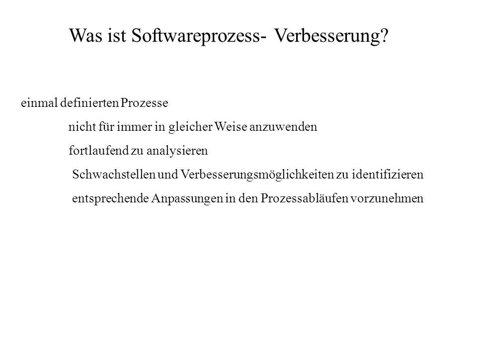 Was ist Softwareprozess- Verbesserung