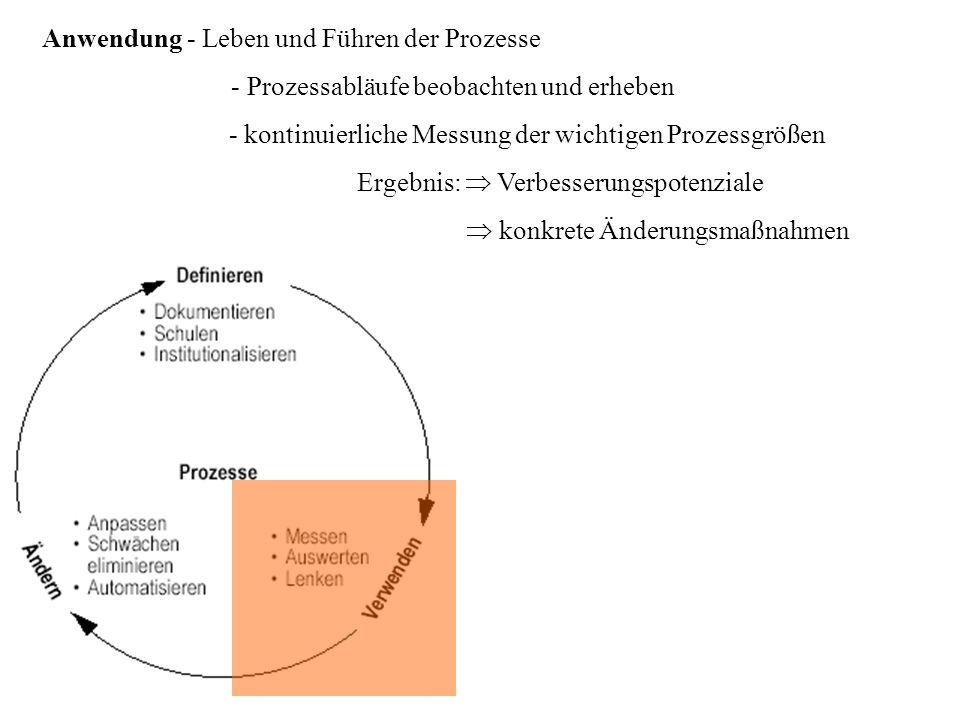 Anwendung - Leben und Führen der Prozesse
