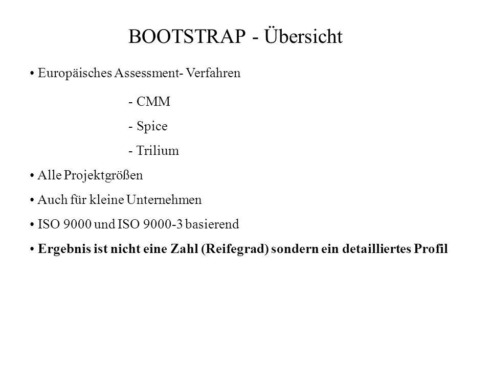 BOOTSTRAP - Übersicht • Europäisches Assessment- Verfahren - CMM