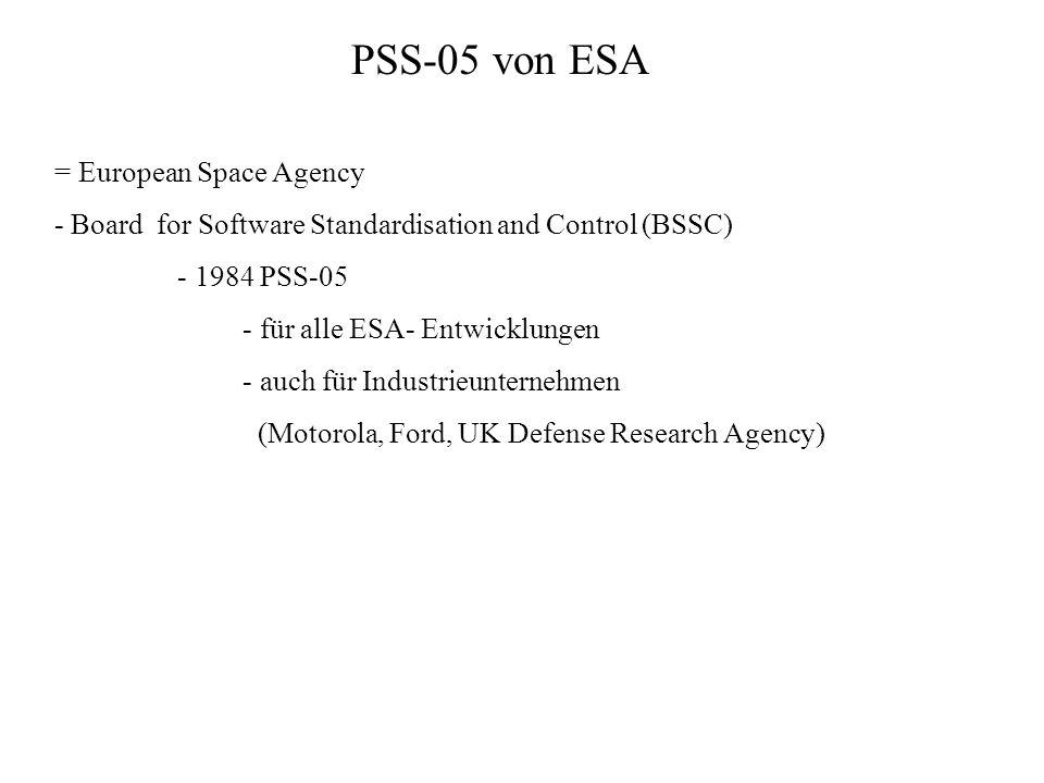 PSS-05 von ESA = European Space Agency