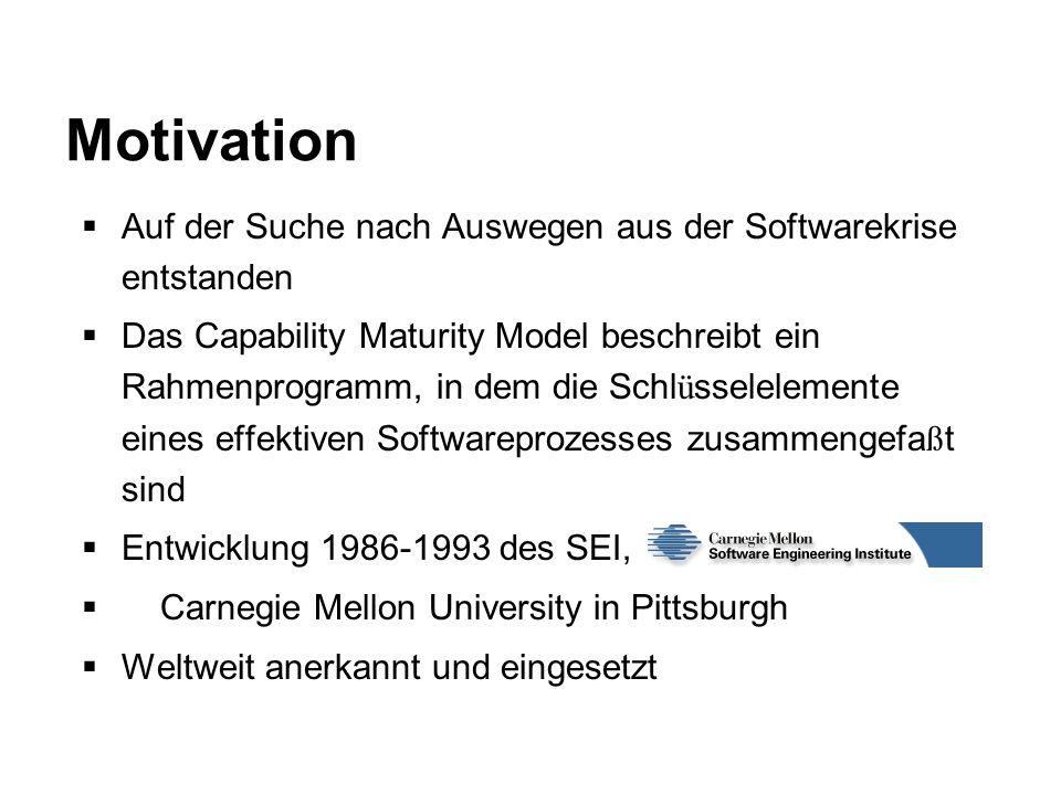 Motivation Auf der Suche nach Auswegen aus der Softwarekrise entstanden.