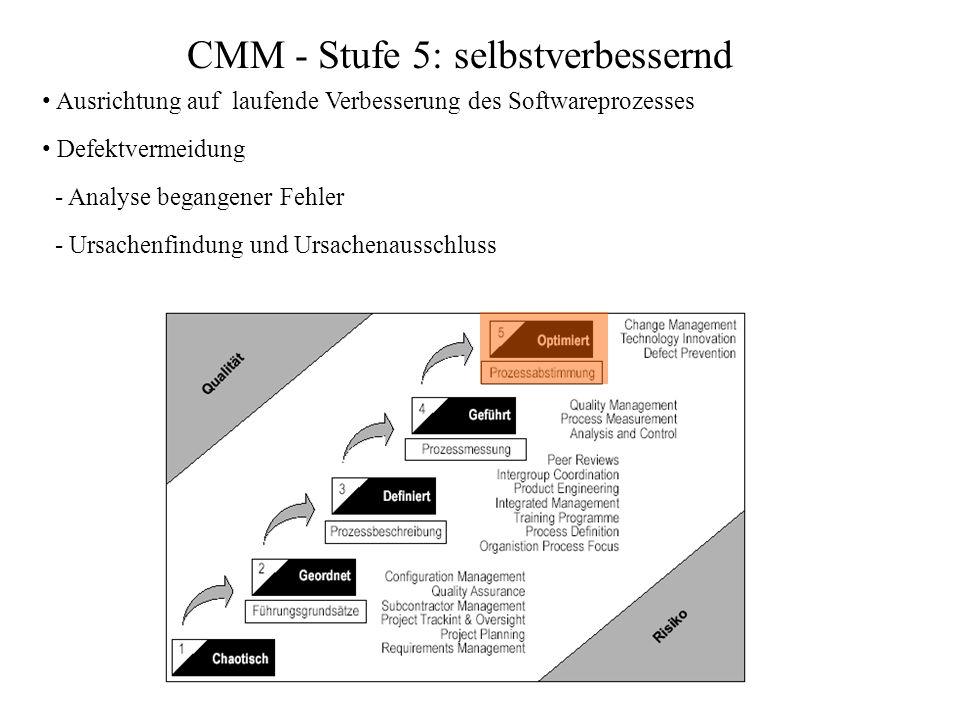 CMM - Stufe 5: selbstverbessernd