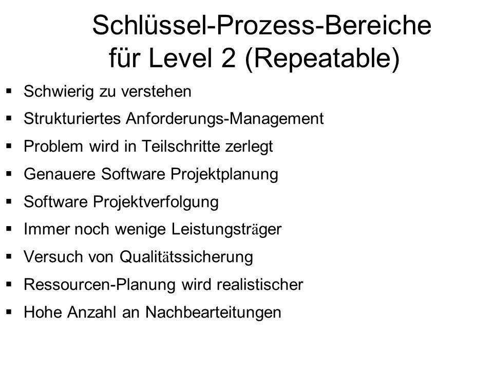 Schlüssel-Prozess-Bereiche für Level 2 (Repeatable)