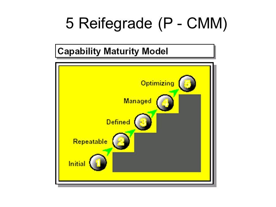5 Reifegrade (P - CMM)