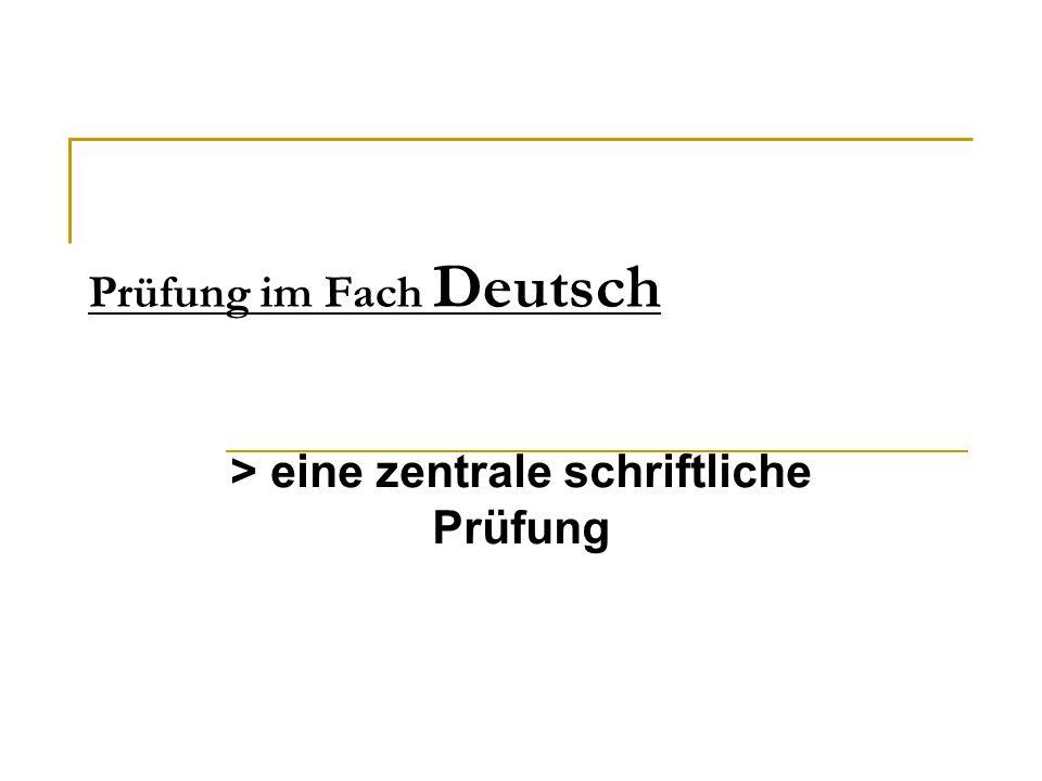 Prüfung im Fach Deutsch