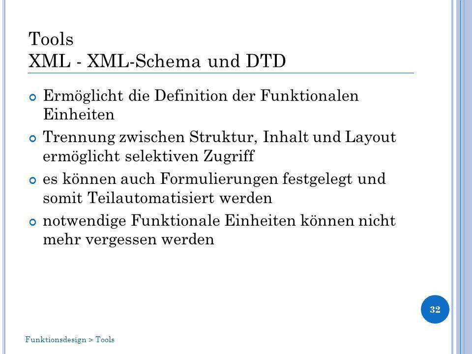 Tools XML - XML-Schema und DTD