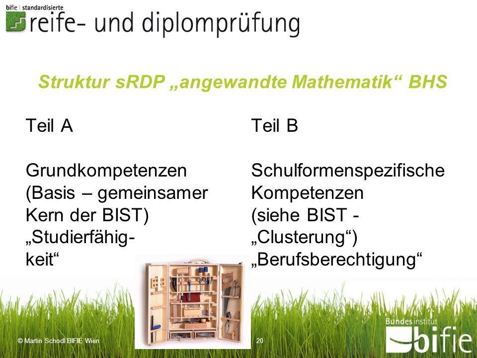 """Struktur sRDP """"angewandte Mathematik BHS"""
