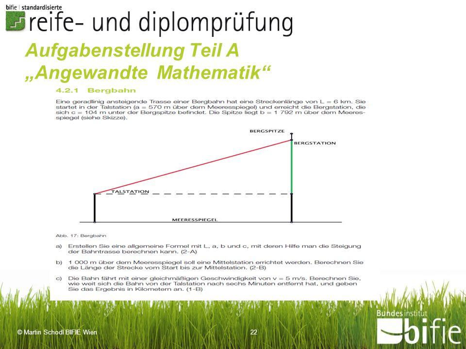 """Aufgabenstellung Teil A """"Angewandte Mathematik"""