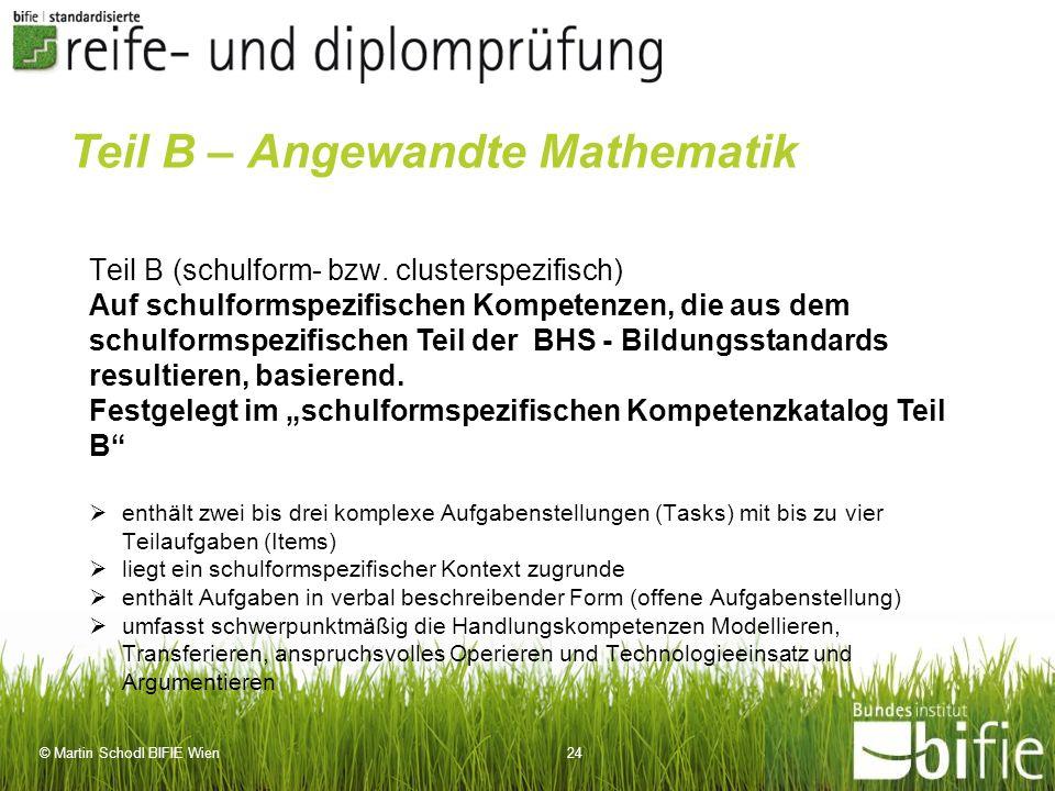 Teil B – Angewandte Mathematik