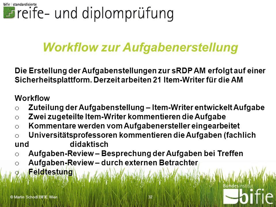 Workflow zur Aufgabenerstellung
