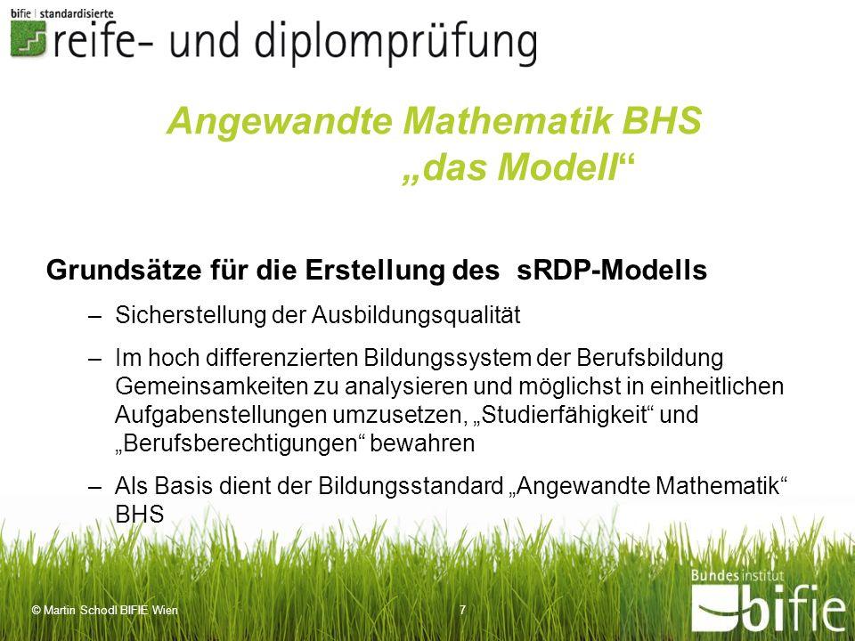 """Angewandte Mathematik BHS """"das Modell"""