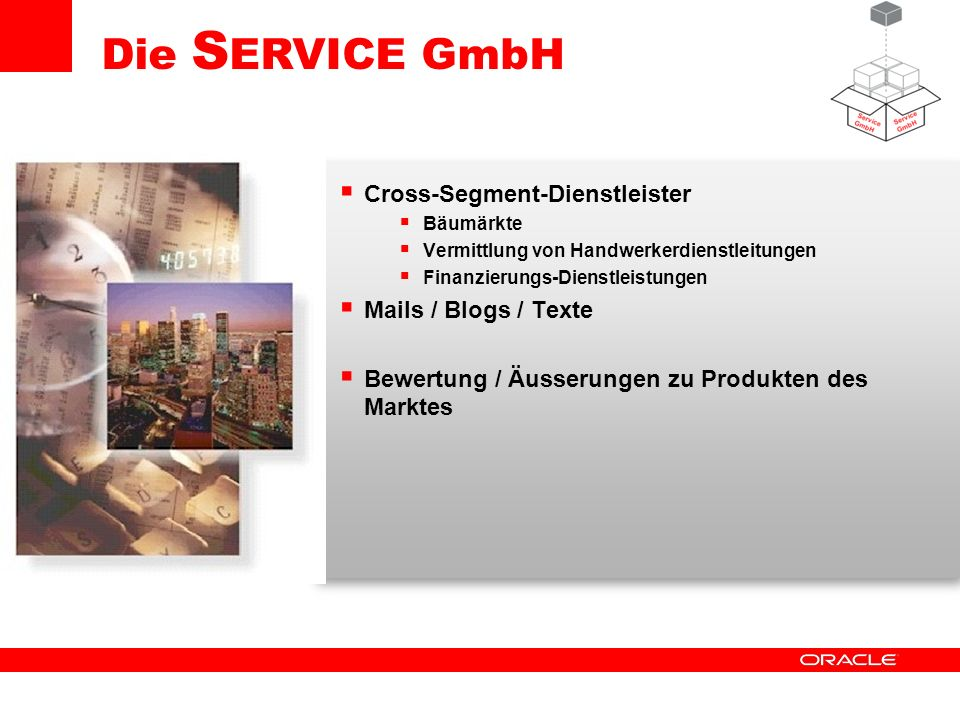 Die SERVICE GmbH Cross-Segment-Dienstleister Mails / Blogs / Texte