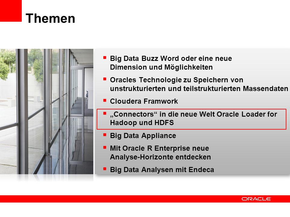Themen Big Data Buzz Word oder eine neue Dimension und Möglichkeiten