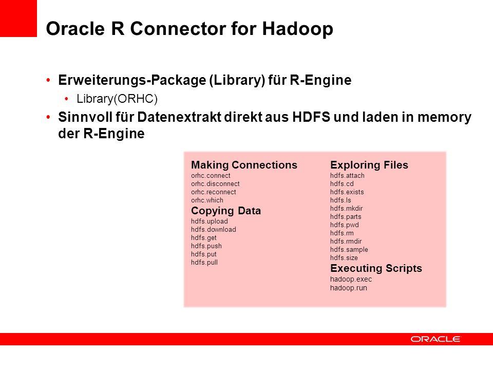 Oracle R Connector for Hadoop