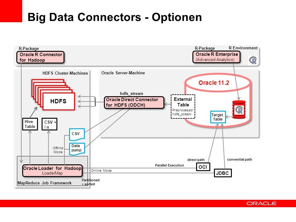 Big Data Connectors - Optionen