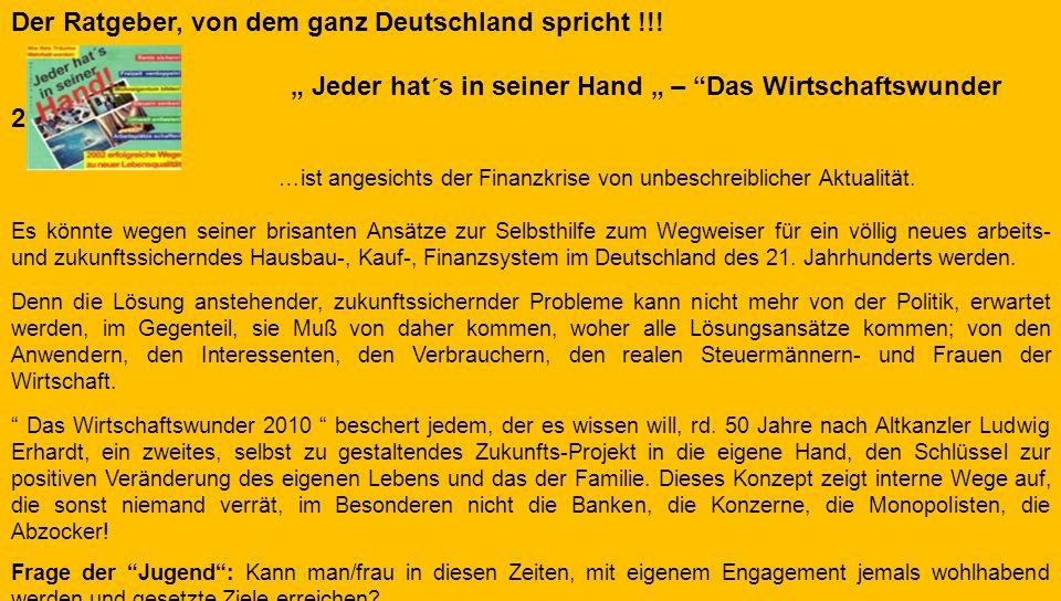 Der Ratgeber, von dem ganz Deutschland spricht !!!