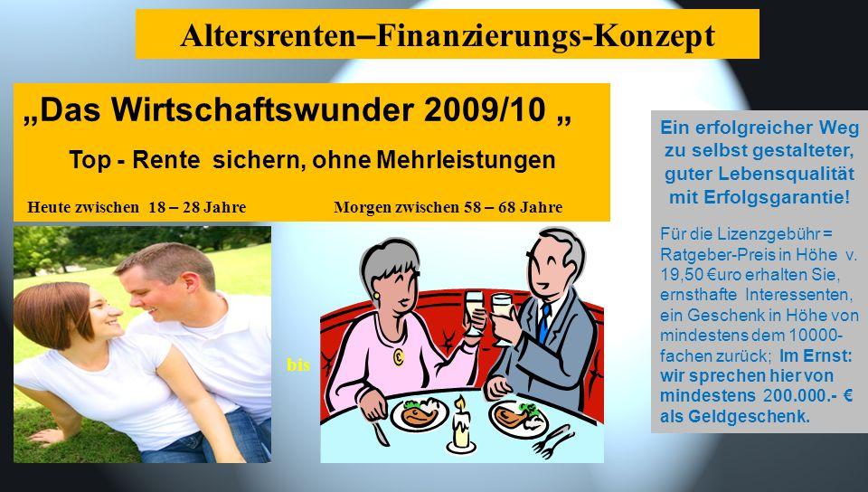 Altersrenten–Finanzierungs-Konzept