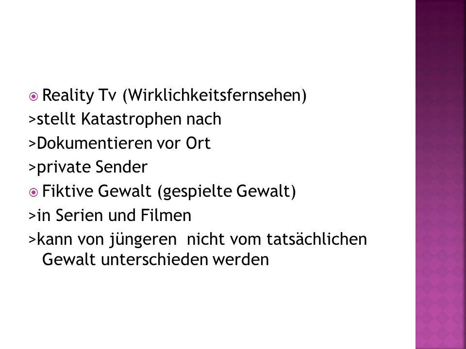 Reality Tv (Wirklichkeitsfernsehen)