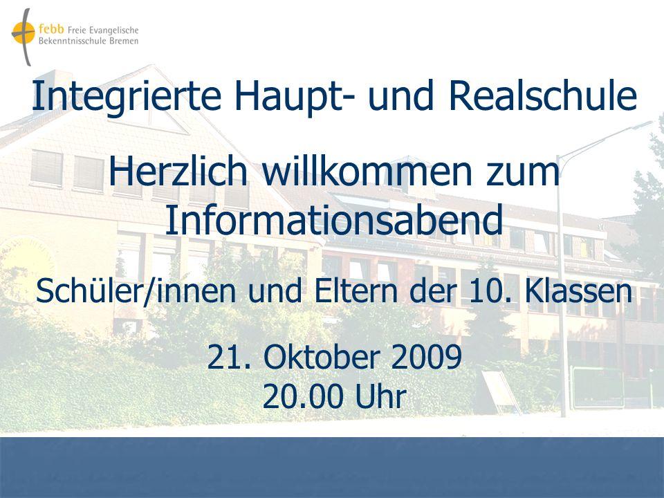 Integrierte Haupt- und Realschule Herzlich willkommen zum