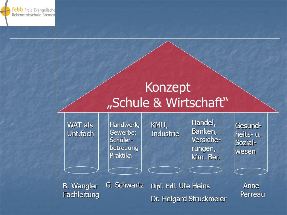 """Konzept """"Schule & Wirtschaft Handel, Banken,"""