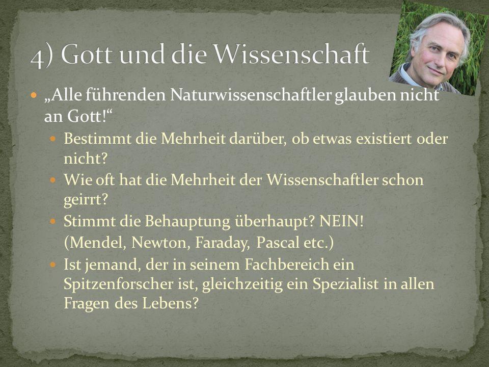4) Gott und die Wissenschaft