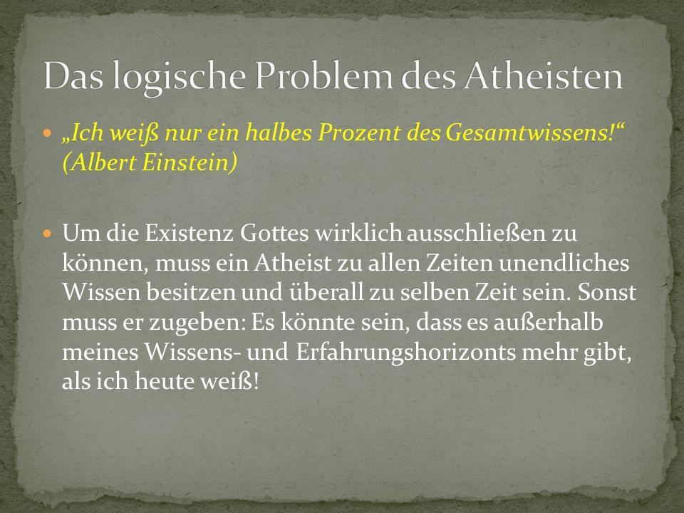 Das logische Problem des Atheisten