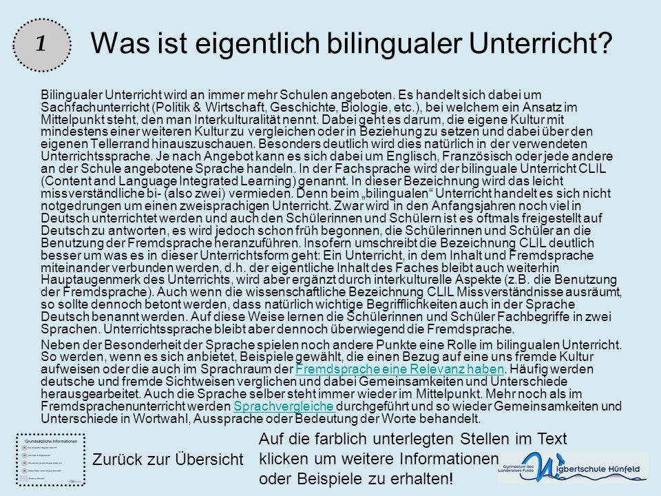 Was ist eigentlich bilingualer Unterricht