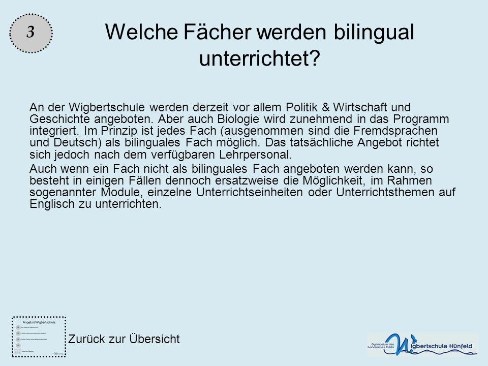 Welche Fächer werden bilingual unterrichtet