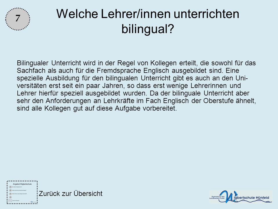 Welche Lehrer/innen unterrichten bilingual