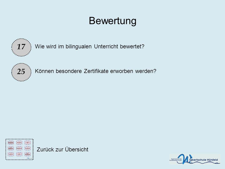 Bewertung 17 25 Wie wird im bilingualen Unterricht bewertet