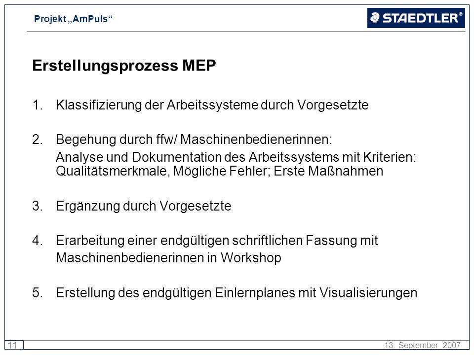 Erstellungsprozess MEP