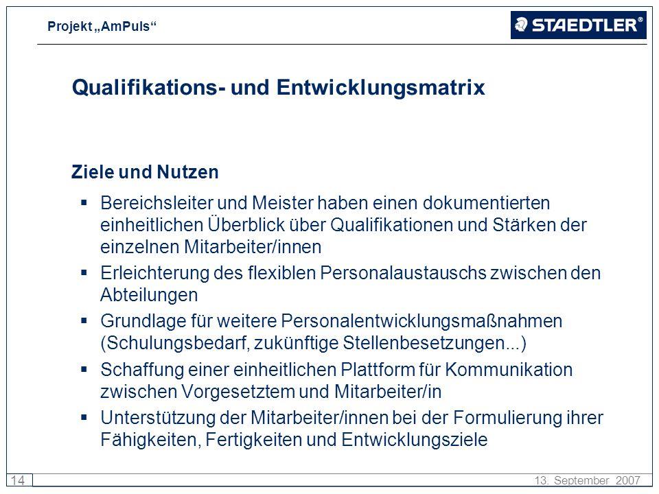 Qualifikations- und Entwicklungsmatrix