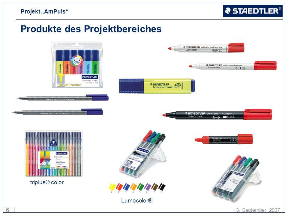 Produkte des Projektbereiches