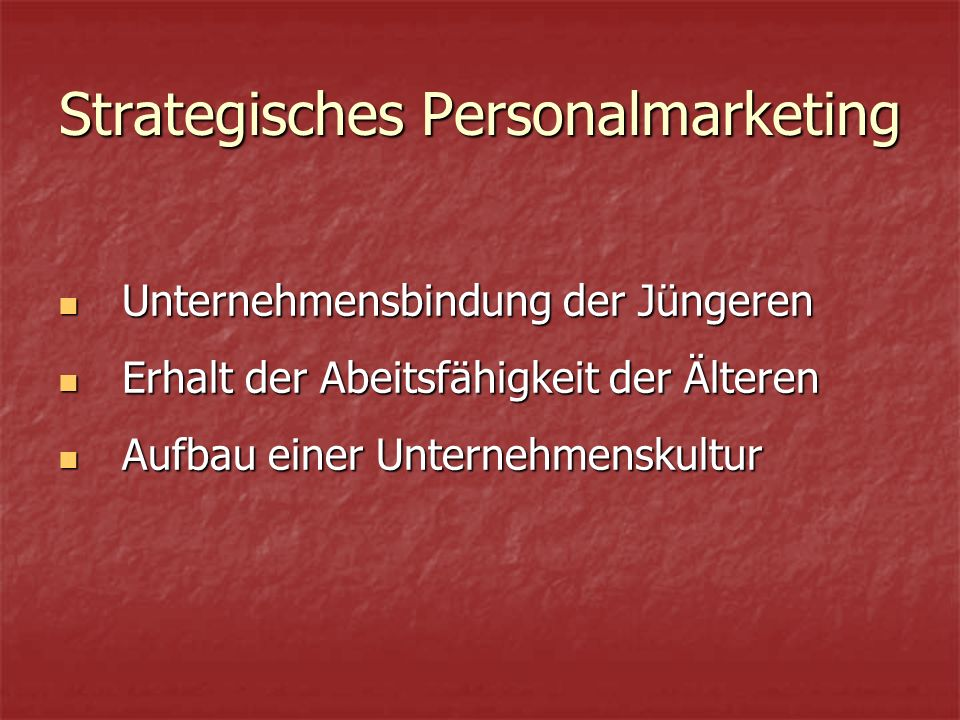 Strategisches Personalmarketing