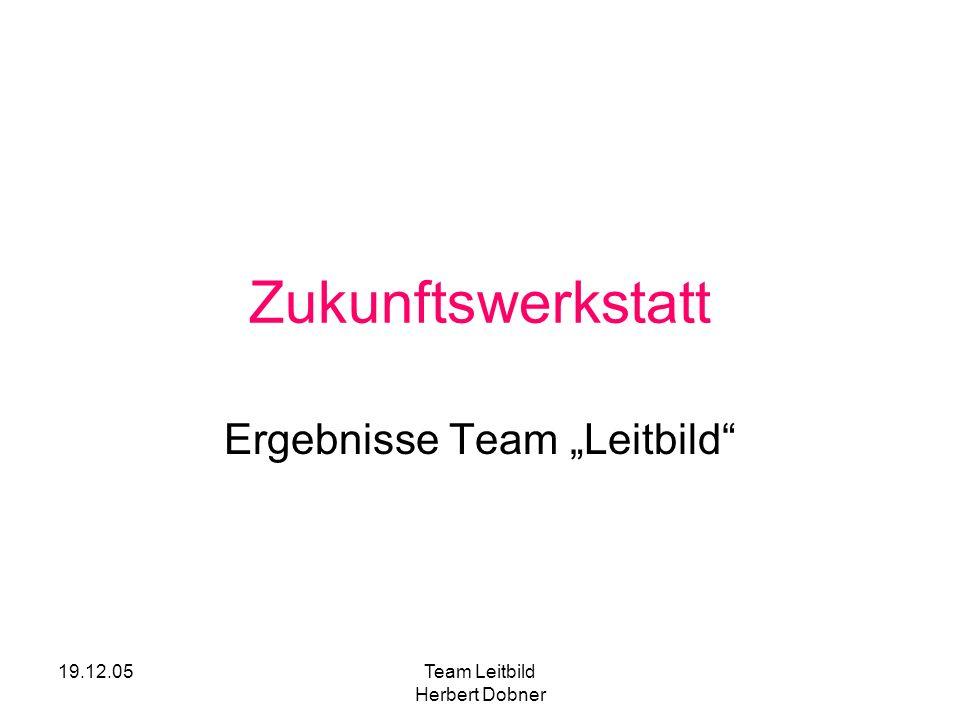 """Ergebnisse Team """"Leitbild"""